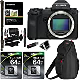 Fujifilm GFX 50S Medium Format Mirrorless Camera (Body Only), Fujifilm Elite 64 GB SDXC UHS-I (2 Pack), Ritz Gear Camera Case and Accessory Bundle