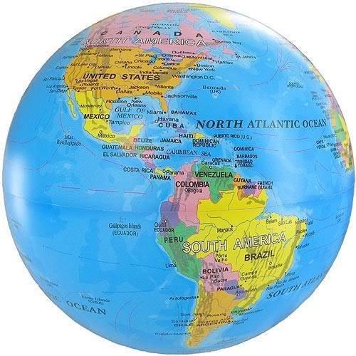 Magic REVOLVING World Earth Globe Globo Terráqueo, illuminated Light Up Changing Colors Light de Blue: Amazon.es: Hogar