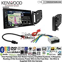 Volunteer Audio Kenwood Excelon DNX694S Double Din Radio Install Kit with GPS Navigation System Android Auto Apple CarPlay Fits 2009-2010 Ram 2011-2014 Chrysler 200 (REF, REC, and RAK Factory Radios)