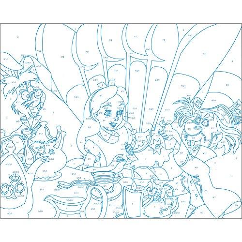 INGRAM PUBLISHING Disney Classic Arylic Paint by Number Set w/ Canvases Display Stands & Brush by INGRAM PUBLISHING (Image #3)