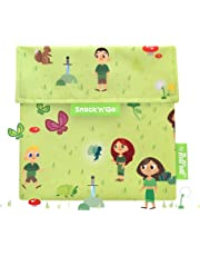 Roll'eat - Snack'n'Go Kids - Bolsa Merienda Porta Snacks Infantil Ecológica y Reutilizable sin BPA | Funda Porta Sandwich, Unisex