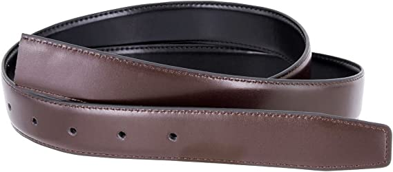 """Reversible Dress Belt Strap Genuine Leather 1-1//8/"""" Wide Brown Navy Gray White"""