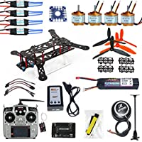 QWinOut 300mm 2.4G10 Channel RC Drone Quadrocopter DIY Unassembly Full Set ARF 6M GPS APM 2.8 FC Flysky FS-i6
