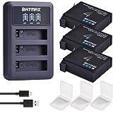 Batmax 3Packs AHDBT-401 1500mAh Battery + LED...