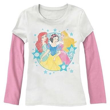 Disney Princess Snow White, Ariel & Aurora T-Shirt for Girls ...