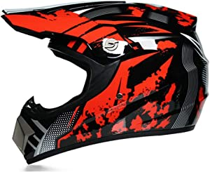 DQ-Walker Youth Motocross ATV Dirt Bike Helmet Street Motorcycle Helmet Shark Blue,DOT Certification