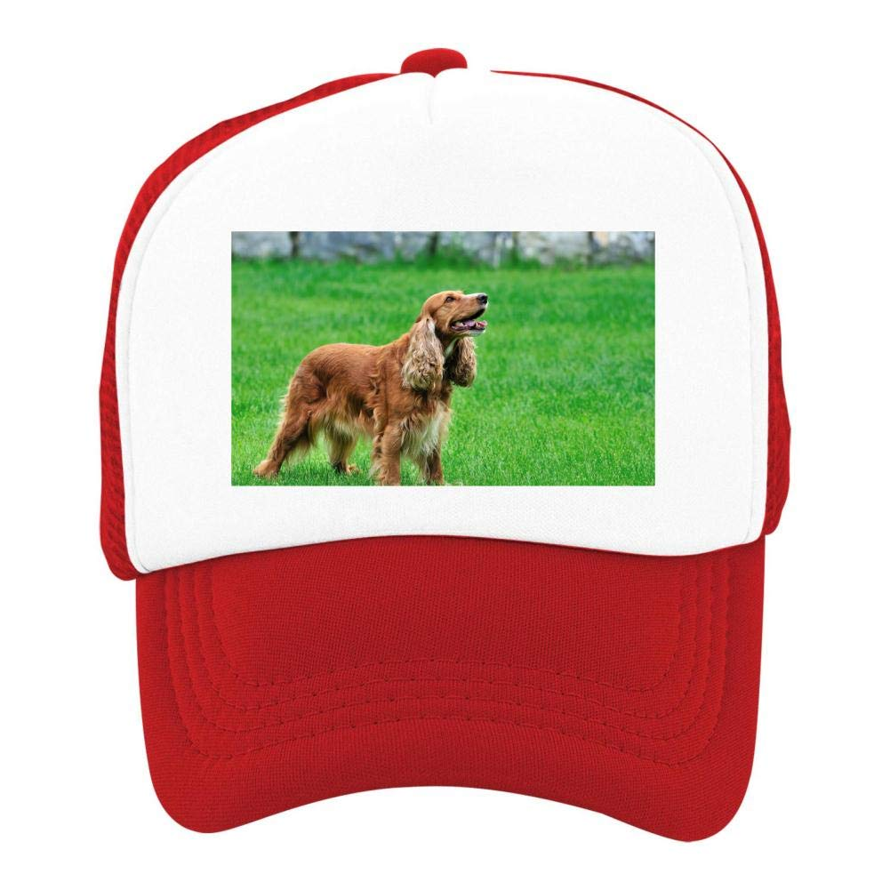 Kids Girls Boys Mesh Cap Trucker Hats Irish Setter Adjustable Hat Red by EThomasine