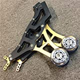Universal Racing Motorcycle Sport Rear Combo Wheel Lift Stands Paddock Stands Yellow Gold