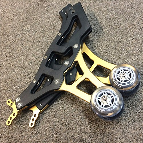 Universal Racing Motorcycle Sport Rear Combo Wheel Lift Stands Paddock Stands Yellow Gold by HTT (Image #1)