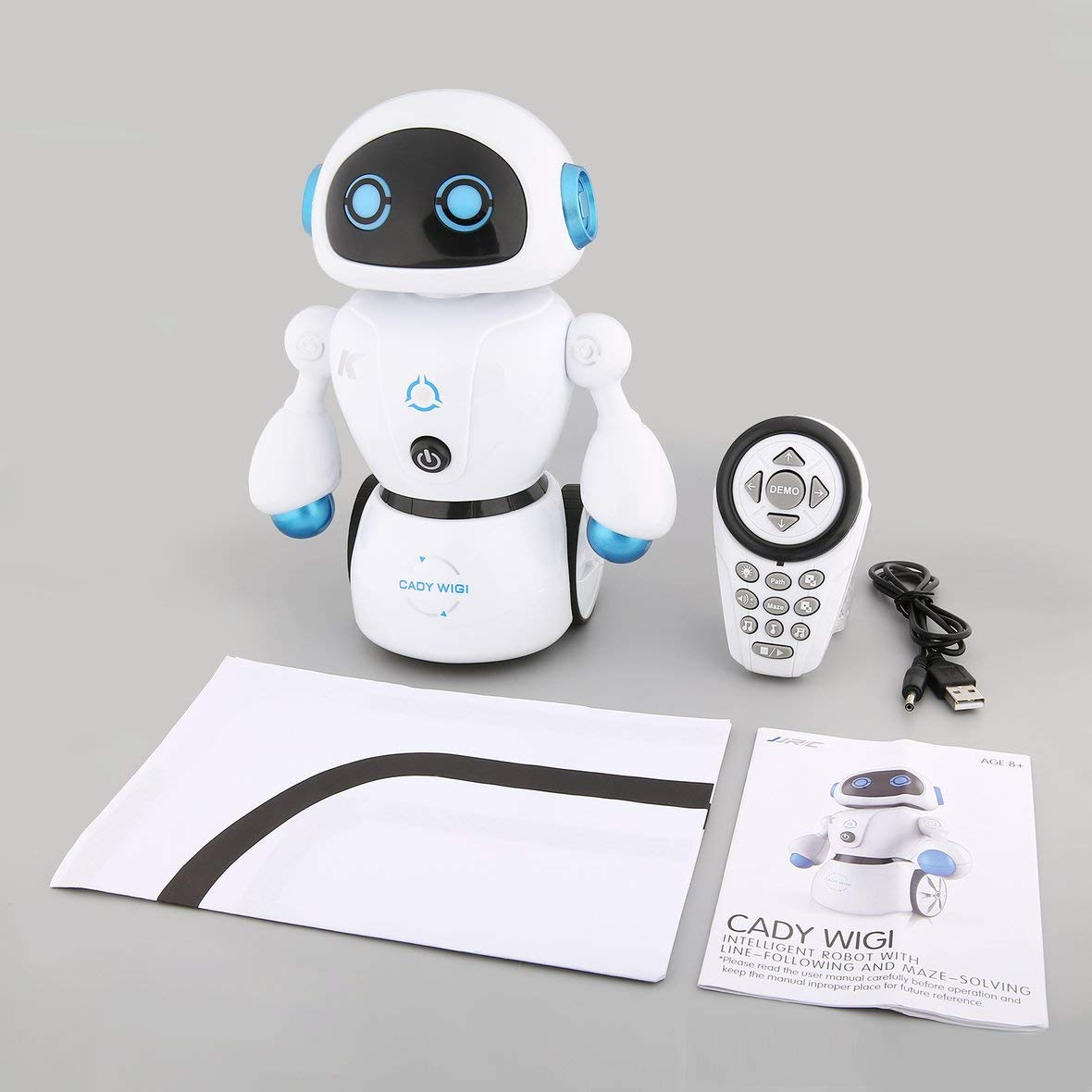 Tivolii JJR/C R6 Cady WIGI Intelligent RC Robot Music Dance Smart Robot Programmable Line-Following Maze-Solving Kid Toy Gift