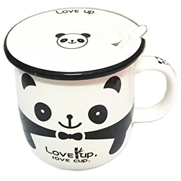 office mug. Moyishi Panda Office Mug Coffee Milk Ceramic Cup Pen Case 300ml Best Gift N