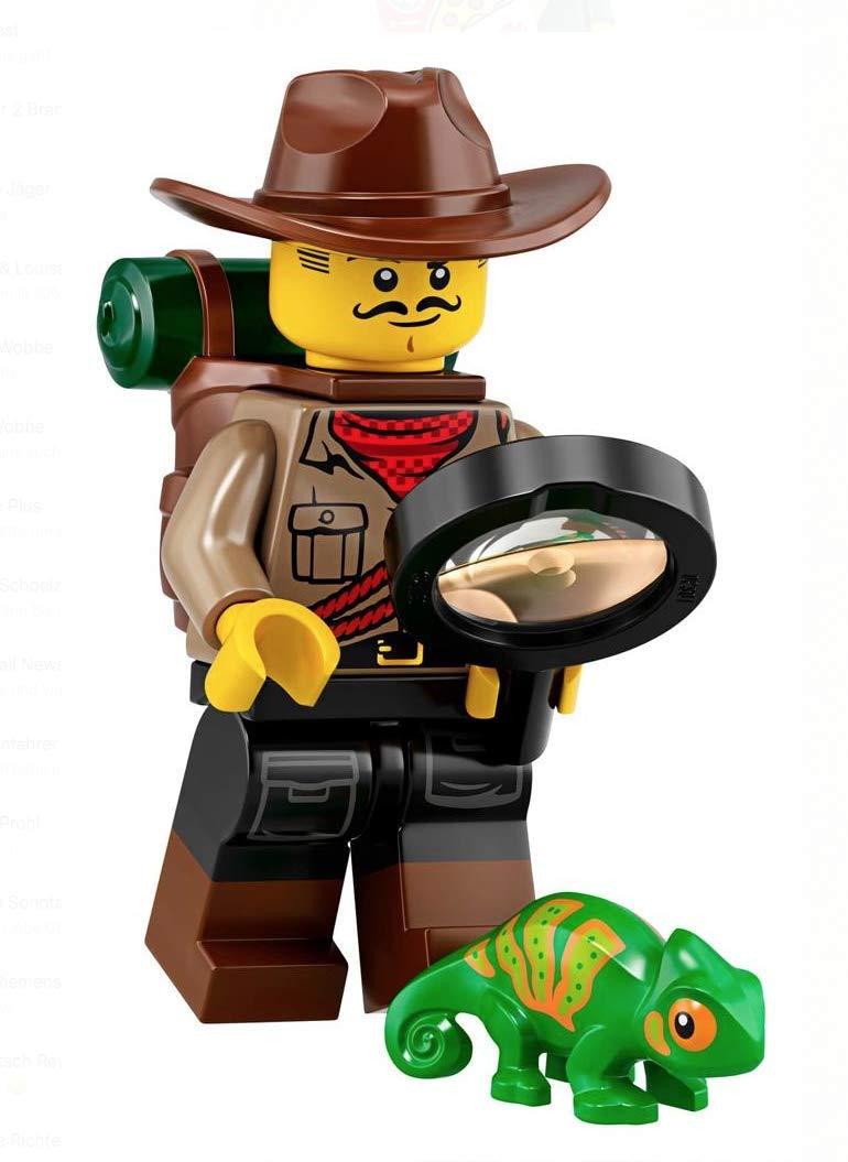 LEGO Minifigures Series 19 Jungle Explorer Minifigure with Chameleon