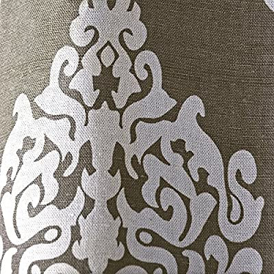 "Exclusive Home Damask Print Grommet Top Window Curtain Panels 54"" X 84"""