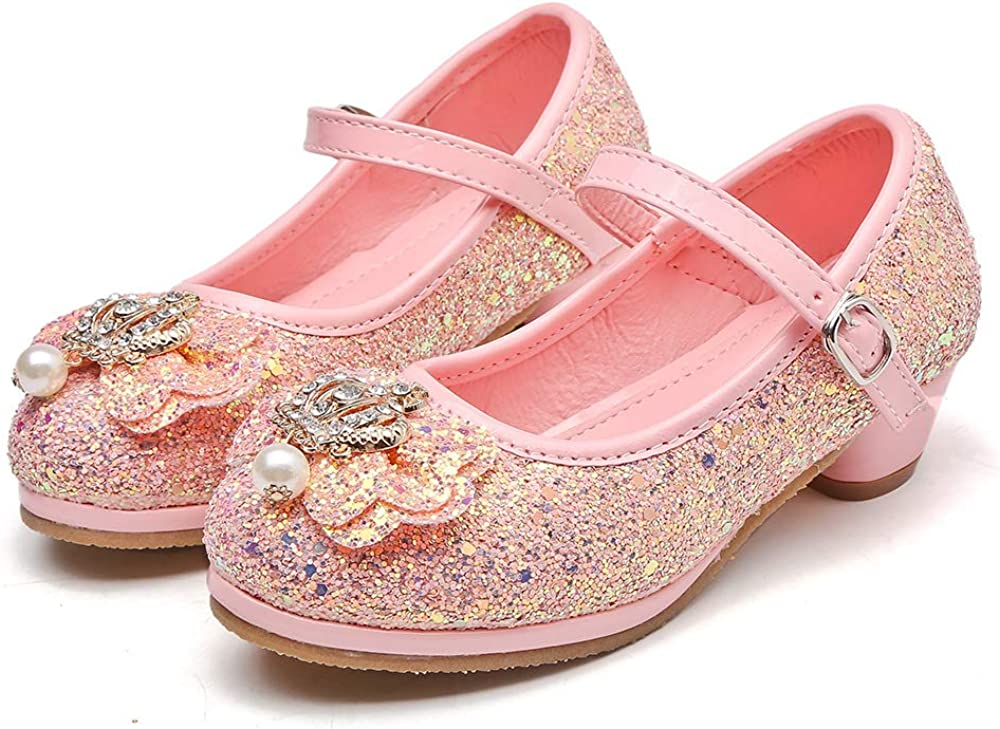 Girls Dress Shoes Cute Flat Shoes Baby Toddler Shoes Mary Jane Shoes Pink 33//1.5 M US Boys Girls