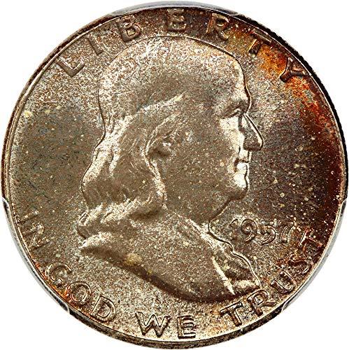 1957 P Franklin Halves Half Dollar MS66 PCGS ()