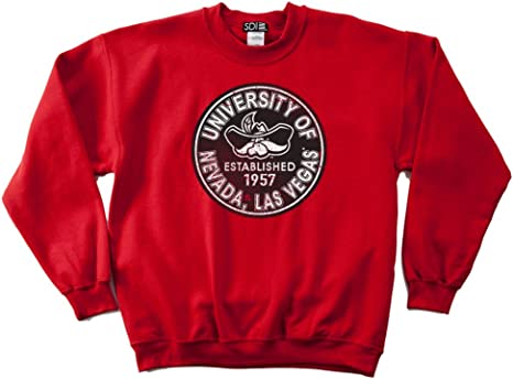 NCAA UNLV Rebels 50//50 Blended 8-Ounce Vintage Arch Crewneck Sweatshirt