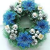Blue Christmas Wreath Garland Ornaments Arcades Hotel Christmas Decorations