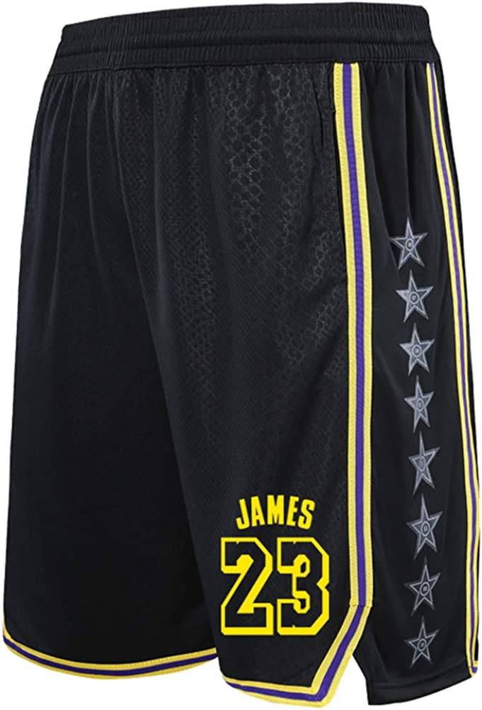 Fitness Sports Training Loose Running Quick-Drying Beach Shorts ZGJY Los Angeles Lakers Shorts for Kids Youuth Basketball Shorts for Men Women