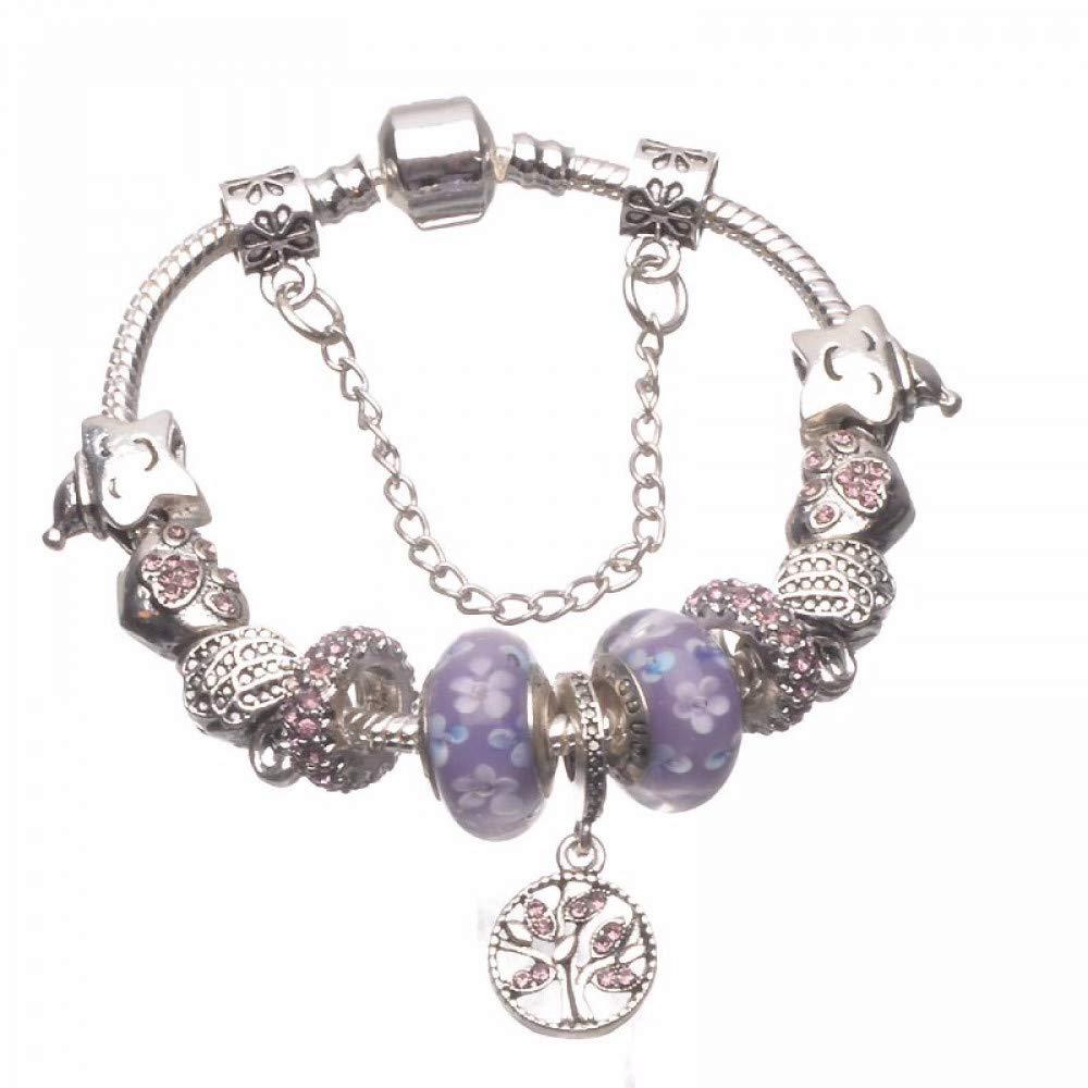 Purple 17cm GSYDSZ Fashion Design Original Glass Bead Bracelets for Women with DIY Wholesale Jewelry
