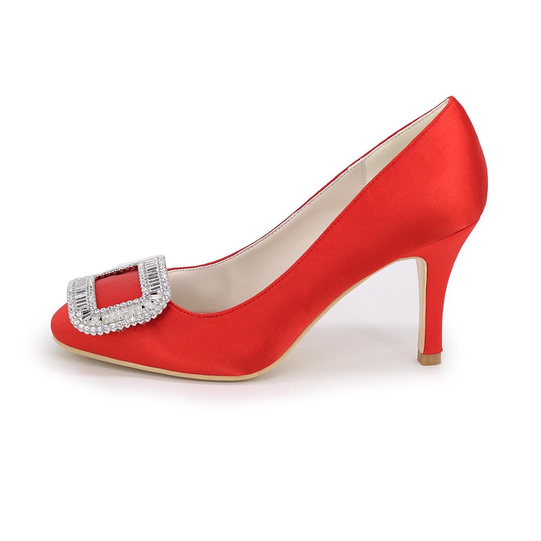 Elegant Chaussures pour Femmes Stiletto Heel Pointed Toe Pompes/Talons Mariage/FêTe Et SoiréE/Bleu/Rouge/Blanc/Argent/Violet, Silver, 42