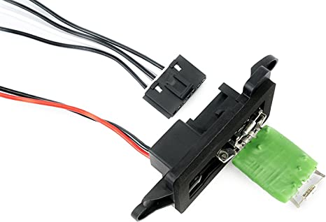 ac blower motor resistor kit with harness replaces 89019088, 973 405, 15 81086, 22807123 fits chevy silverado, tahoe, suburban, avalanche, gmc 2 pin female wire connector plug toyota blower switch wire harness connectors #12