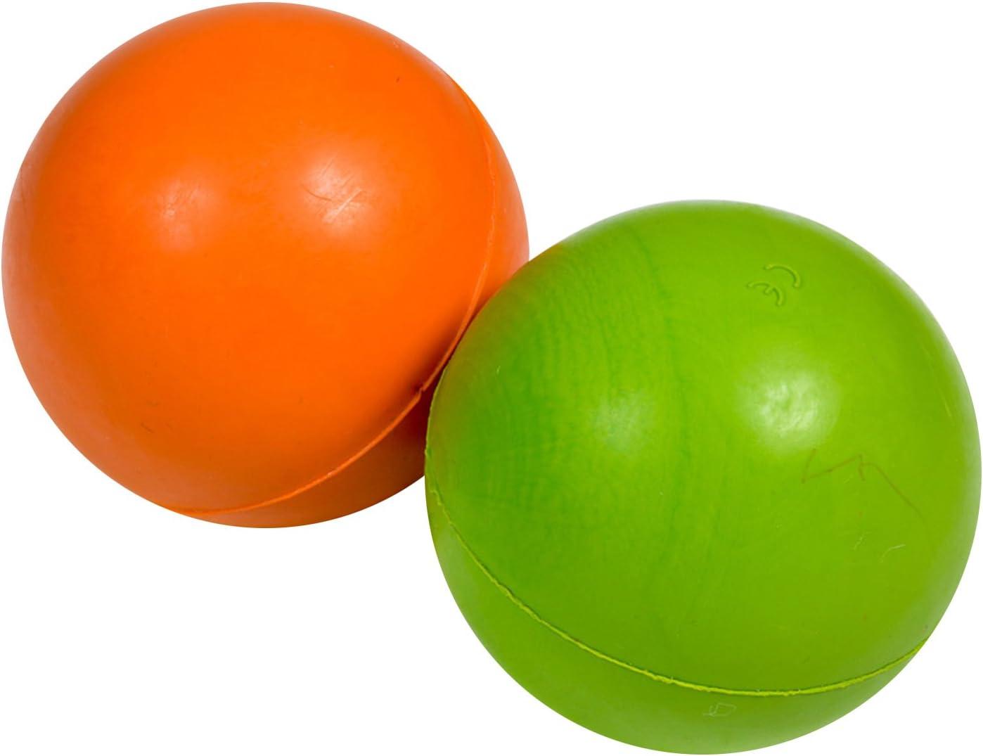 Petface Bola de Goma Maciza Perro de Juguete, 7,5 cm, Verde/Naranja: Amazon.es: Productos para mascotas