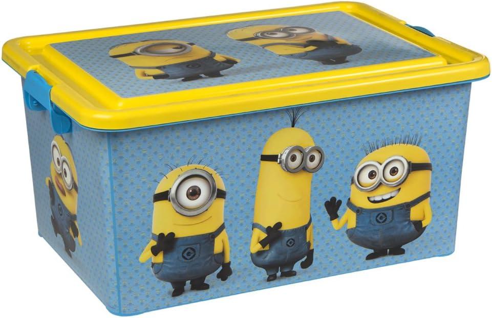 ColorBaby - Caja ordenación 23 litros, diseño minions (76611): Amazon.es: Juguetes y juegos