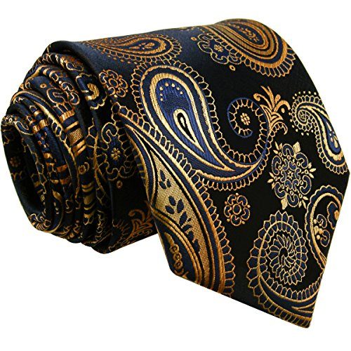 Shlax&Wing Multi-colored Paisley Dark Blue Neckties Men Tie Wedding Fashion