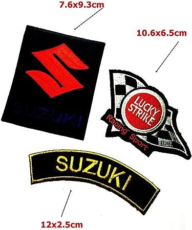 Lucky Strike Aufn/äher Patch Suzuki Racing Team Moto GP
