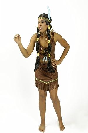 K?r Festartikel Disfraz India de la Pradera Mujer M: Amazon.es ...