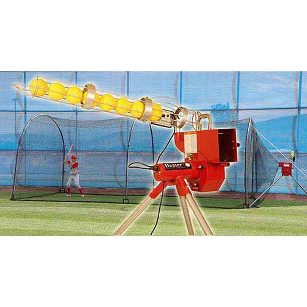 Calentador deportes 24 ft. Máquina de lanzamiento & Xtender jaula ...