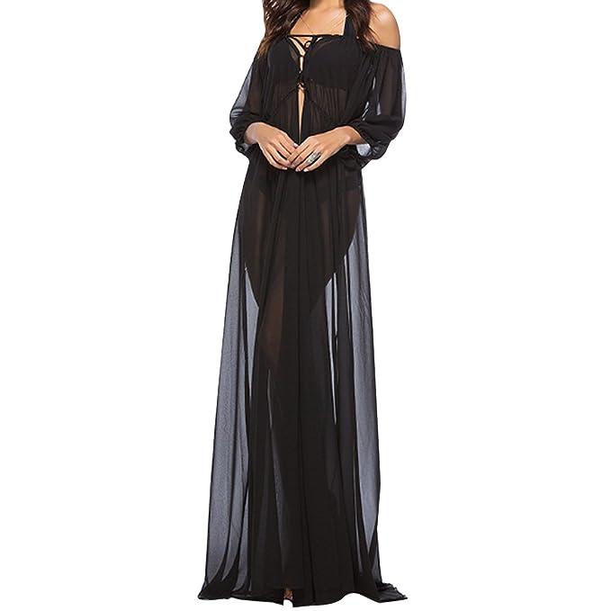 bbe8fa0e2c5a Rebecca Women s Summer Backless Sleeveless Dress Off Shoulder Beach Maxi  Dress Sexy Tulle Dress XL