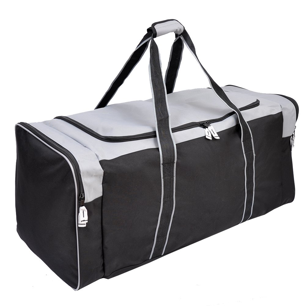 Jetstream 36 Inch 3-Pocket Hockey Equipment Duffle Bag (Grey)