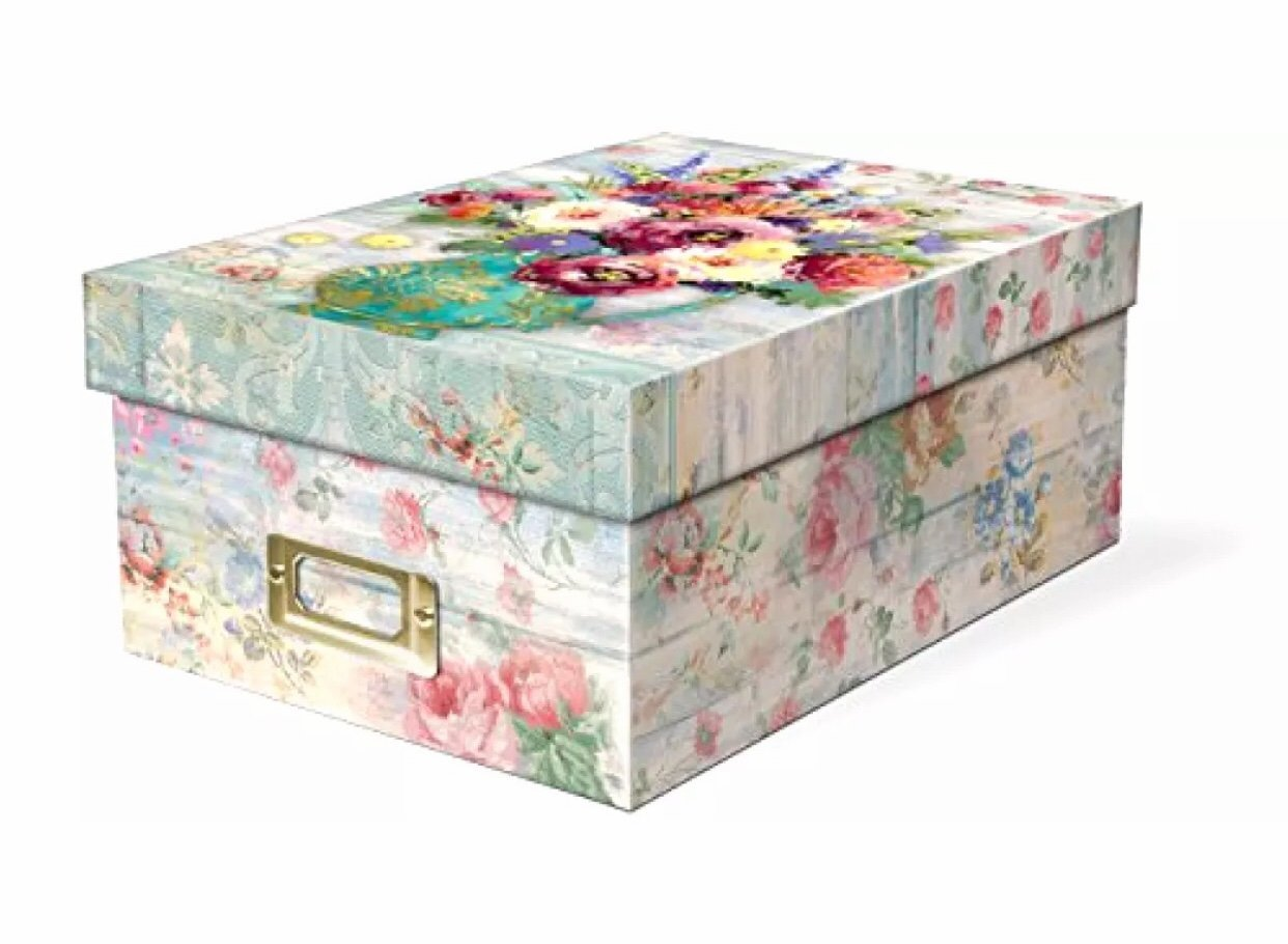 Punch Studio Fresh Flowers Photo Memory Storage Box by Punch Studio