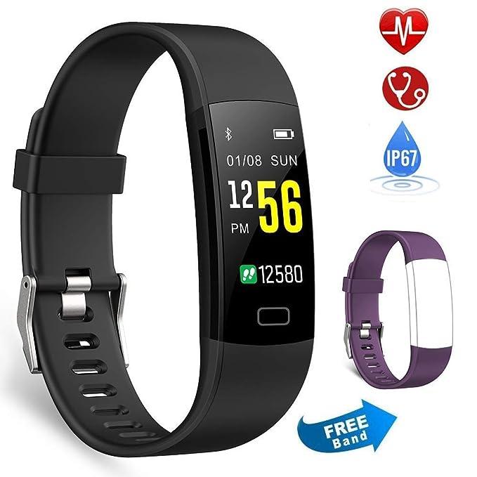 Semaco Pulsera Actividad Inteligente Pantalla Color de Deporte GPS Pulsómetro Monitor de Ritmo Cardíaco Impermeable IP67 Reloj Inteligente Podómetro ...