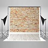 5x7ft Vintage Red Brick Wall Backdrop White Wood Floor Photography Backgroung Backdrops
