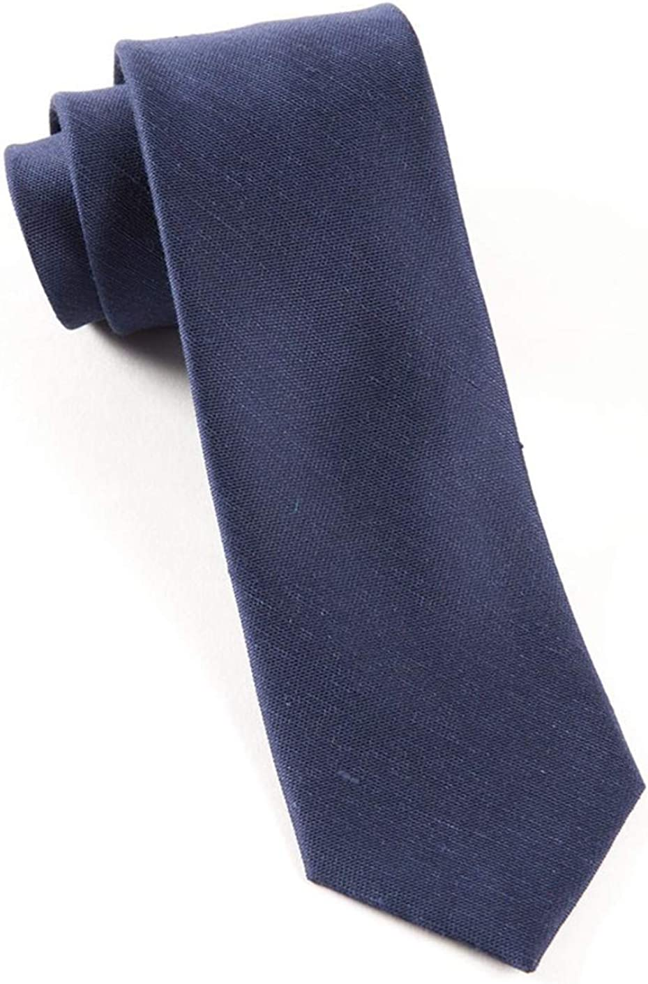 The Tie Bar Linen Blend Sand Wash Solid Navy Boys Tie