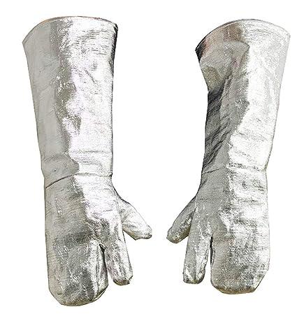 Seguridad Trabajo de Alta Temperatura Resistente al fuego largo guantes aluminizado Fire trabajo guantes de soldadura
