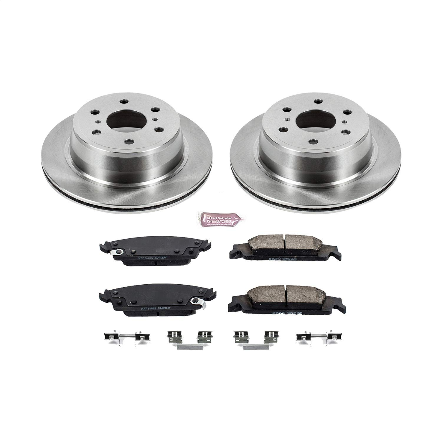 Autospecialty KOE6562 Daily Driver 1-Click OE Replacement Rear Brake Kit by POWERSTOP