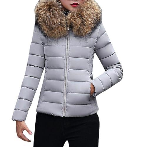 Escudo, abrigo,Internet Moda sólida Abrigo informal de abrigo grueso de invierno de mujer