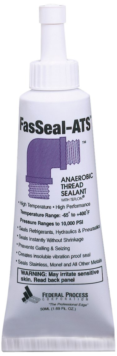 Gasoila FasSeal ATS Anaerobic Thread Sealant with PTFE, -60 to 375 Degree F, 50 ml Tube