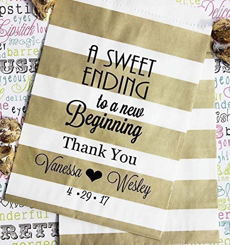 Amazon Personalized Wedding Favor Bags A Sweet Ending To A New
