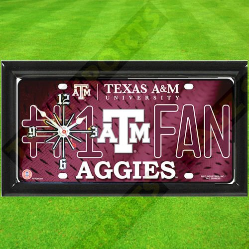 TEXAS A&M AGGIES NCAA CLOCK - BY TAGZ SPORTS -