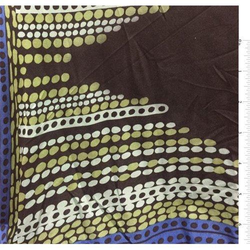 Black Print Silk Jersey Knit, Fabric By the Yard - Silk Knit Jersey Fabric