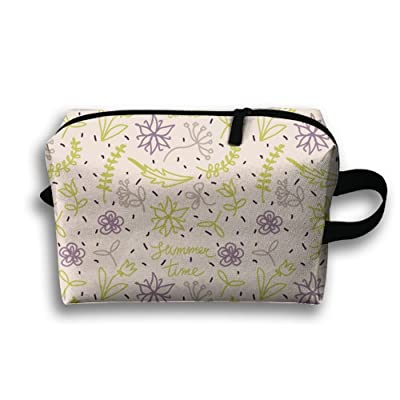 HOT Painted Summer Flowers And Leaves Portable Travel Bag Female Travel Cosmetics Can Also Be Easy To Carry£¡