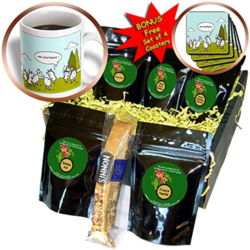 Londons Times Funny Animals Cartoons - Ugly Goat Gossip - Coffee Gift Baskets - Coffee Gift Basket (Ugly Goat)