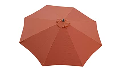 Beau Formosa Covers Replacement Umbrella Canopy For 9ft 8 Ribs Terra Cotta ( Canopy Only)