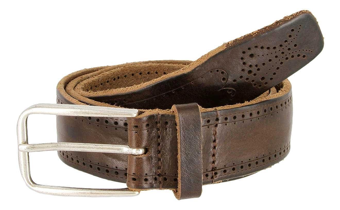 35mm Wide for Men Tulliani Dot Dash Tooled Leather Belt Belt 1-3//8