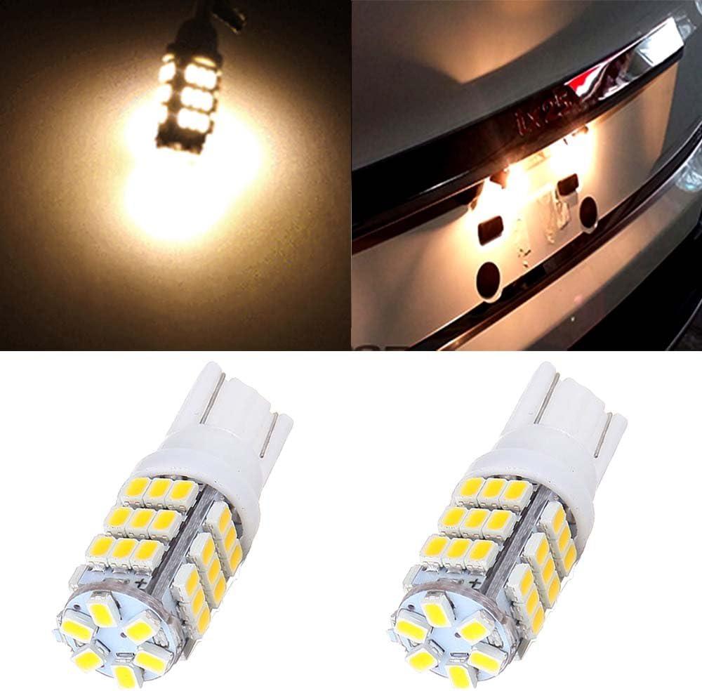 4Pcs Ultra White 3528 SMD LED For Car License plate Light Bulbs T10 W5W 194 168