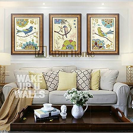 abm home birds cm x c pcs frame wall art large wall